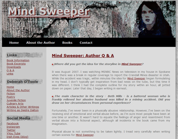 MIND SWEEPER website. Click on image to view larger size in a new window.
