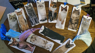 New bookmarks (with a cat theme). Click on image to view larger size in a new window.