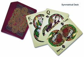Celtic symmetrical playing cards from Gael Song. Click on image to view larger size in a new window.