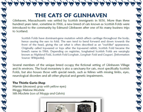 "The Cats of Glinhaven from ""Glinhaven"" by Deborah O'Toole. Click on image to view larger size in a new window."