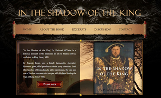 "Future website for ""In the Shadow of the King."" Click on image to view larger size in a new window."