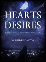 "The third cover for ""Hearts Desires"" was a rendition of semi-main characters Brose Larkin and Bridget Gallagher in an embrace as they look out over Larkin City under a starry sky. Click on image to view larger size in a new window."