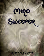 "First book cover for ""Mind Sweeper."" Click on image to view larger size in a  new window."