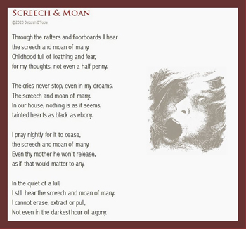 """Screech & Moan"" by Deborah O'Toole. Click on image to view larger size in a new window."