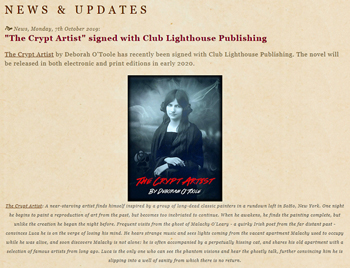 """The Crypt Artist"" signed with Club Lighthouse Publishing."