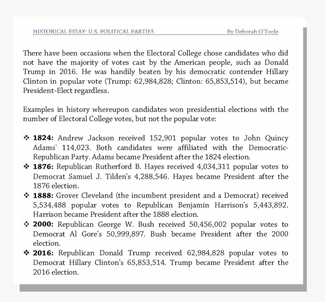 "Electoral college snippet from ""U.S. Political Parties."" Click on image to view larger size in a new window."
