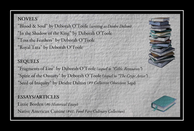 Future Books by Deborah O'Toole. Click on image to view larger size in a new window.